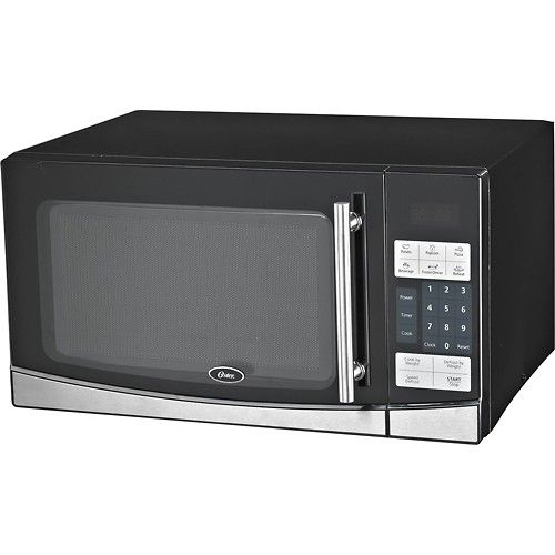 17 5 Inches Wide 21 Depth Oster 1 1 Cu Ft Mid Size Microwave Stainless Steel Black Larger Front Digital