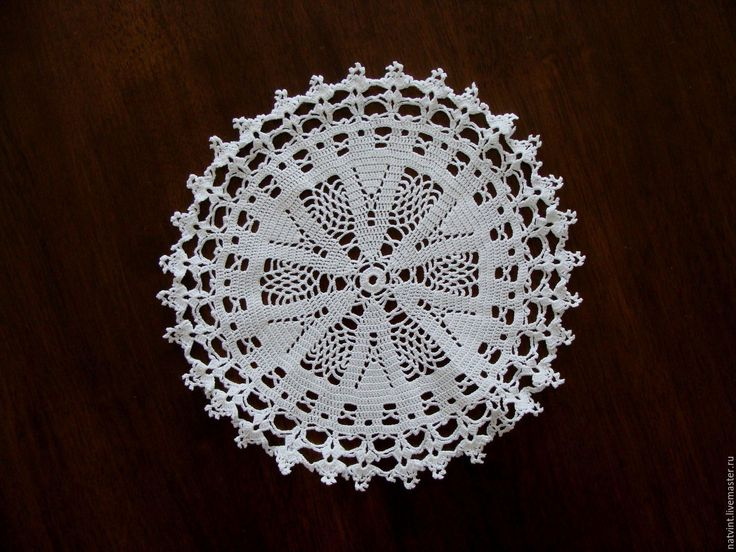 Купить Винтажные салфетки крючком, Германия - белый, винтажная салфетка, салфетка крючком
