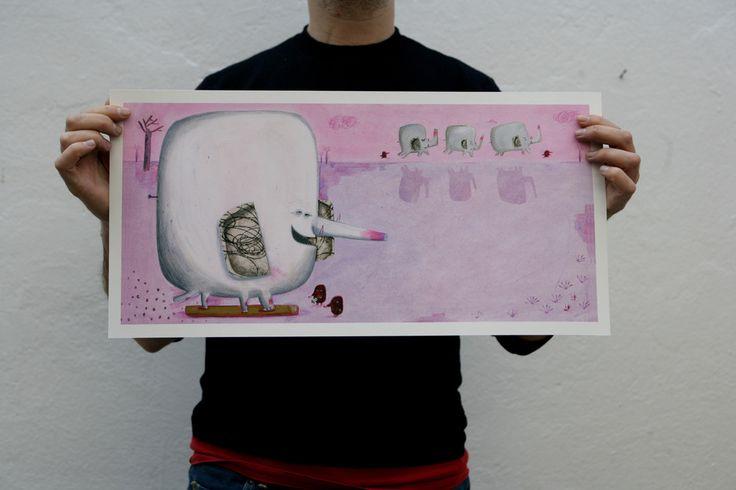 """miguel tanco-store Print/Impresión """"El rey de los animales"""" I €43.00 http://migueltanco.com/store/prints/"""