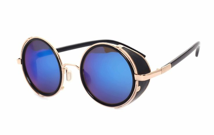 2016 Revestimento de Óculos De Sol Redondos Steampunk Moda Óculos De Sol Das Mulheres Marca Designer Homens Óculos de Sol do Punk Do Vapor de Metal Oculos Retro M027 em Óculos de sol de Das mulheres Roupas & Acessórios no AliExpress.com   Alibaba Group