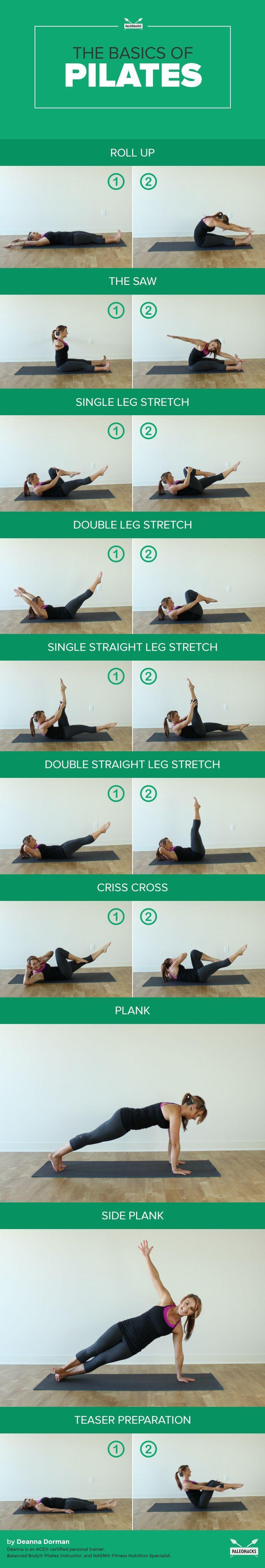 Exercices de Pilates: Les 10 mouvements de base pour debutant et Les Bénéfices  (méthode Pilates)