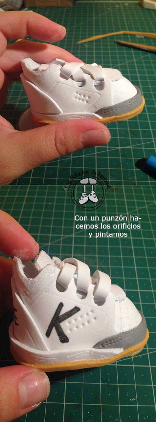 Las fofuchas de Irenucha: Tutorial Zapatillas Kelme