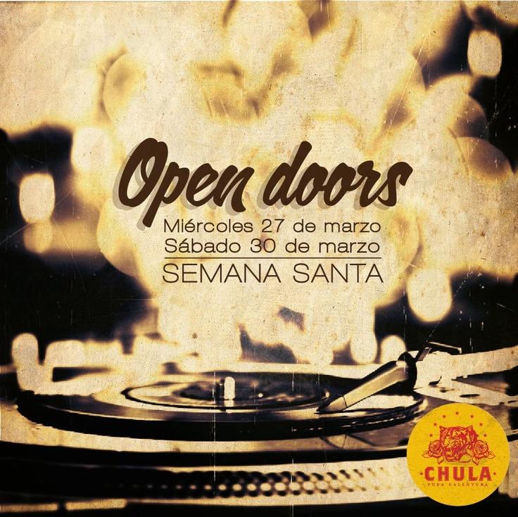Chula hoy estará abierto y la fiesta debe ser tremenda y durar hasta que regresen el sábado! http://www.mirolo.net/Medellin/Chula.aspx