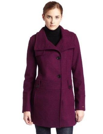 Tommy Hilfiger Womens Wool Blend Coat: Breast Pockets, Women Wool, Wool Outerwear, Blend Coats, Fashion Wool, Wool Blend, Color Inside, Contrast Color, Coats 139 99
