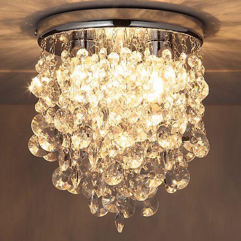Buy John Lewis Katelyn Crystal Bathroom Flush Ceiling Light Online At  Johnlewis.com Great Ideas