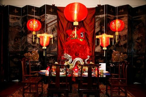 Barbara Ostrom Dragon Tablescape In Chinese New Year Dining Room Tablescape
