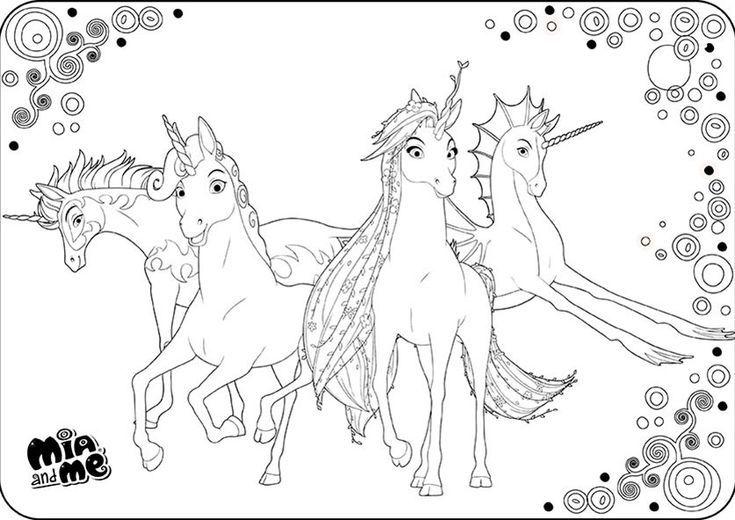 ausmalbilder mia and me  ausmalbilder mia  unicorn