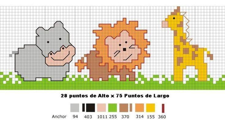 Patrones de punto de cruz gratis para bebés - Imagui