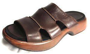 $8.62 Buy It Now #DANSKO #Shoes #LEATHER Brown #SlipOn Comfort #Strappy #Sandal #Womens 7.5 #BlackFriday #CyberMonday #ThanksGivingSale #Sale