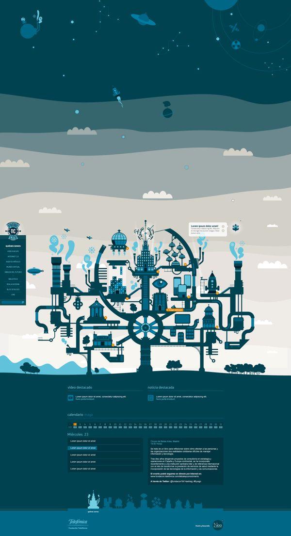 FantasTIC City by Mauco Sosa, via Behance