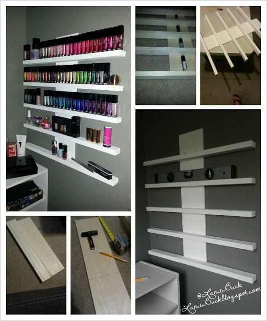 Lanie Buck: DIY Craft- Polish or Nik Nak Rack.