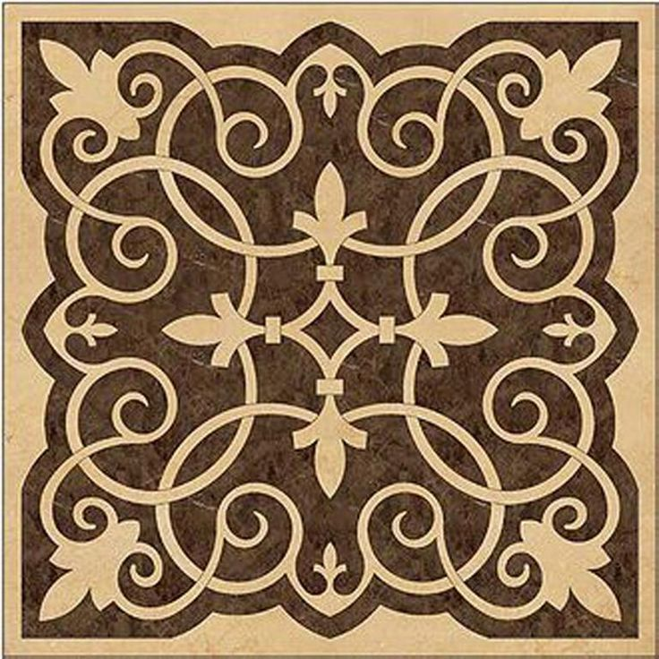 marble water jet square tile available at www.atmarbledesign.com