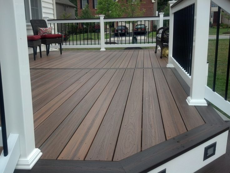 Trex Decking Colors >> Great Evergrain Decking For Deck Inspiration: Brown Evergrain Decking Plus White And Black ...