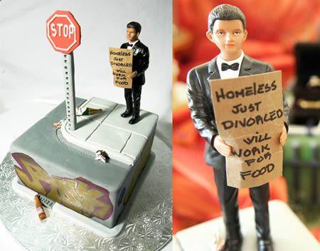 15 Hilarious Divorce Cakes (divorce cake, divorce cakes) - ODDEE  #DineSavorRepeat