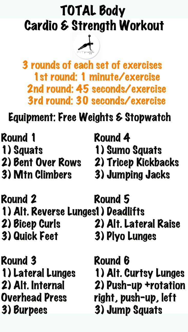 Full Body Cardio & Strength Workout