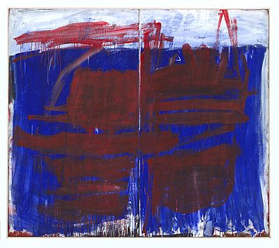 Tony TUCKSON, Red on blue and white