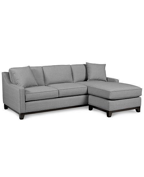 pretty nice 7f780 73d7b Keegan 90 2 Piece Fabric Reversible Chaise Sectional Sofa ...