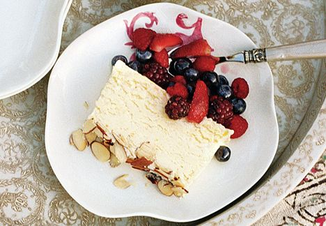 Meyer Lemon Semifreddo with Summer Berries - if the finished product is as good as the batter, then this is a keeper!