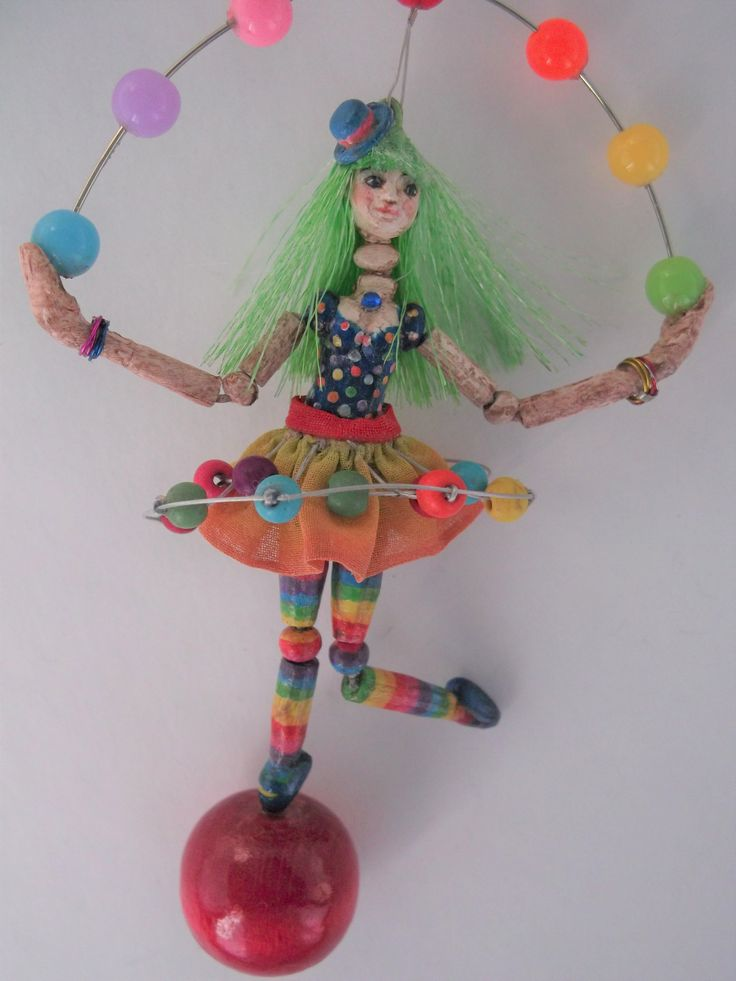 Necklace with doll OOKA - Circus Collection