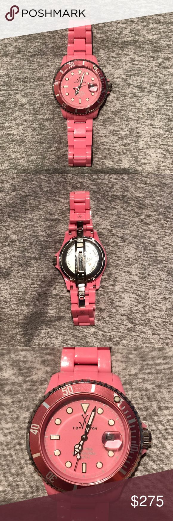 Toy Watch 'Fluo' Hot Pink Toy Watch 'Fluo' Hot Pink. Worn a few times. Great condition! Comes with extra links. ToyWatch Accessories Watches
