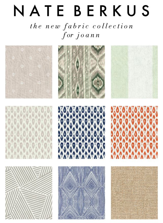the new Nate Berkus fabric collection for Joann  Nate