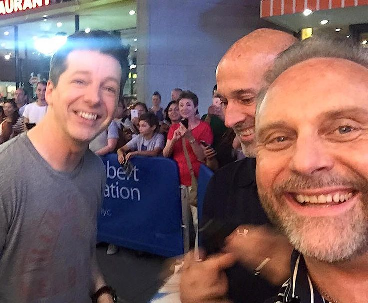 Meeting Sean Hayes after his performance in 'An Act of God'