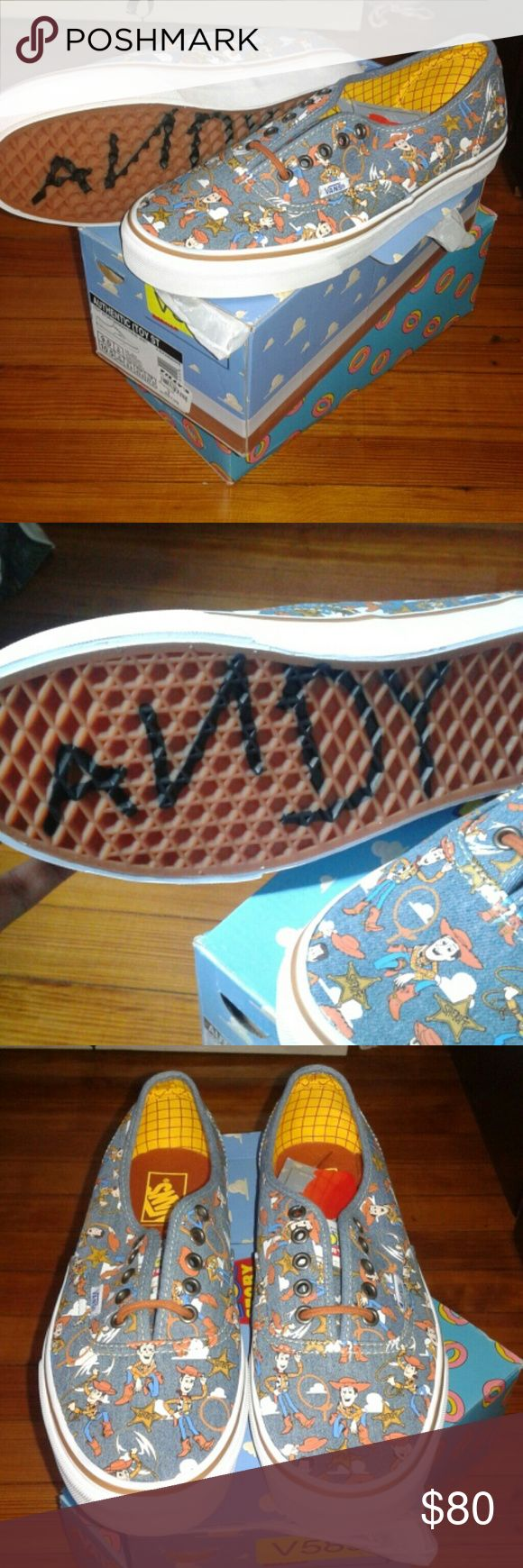 New Vans Toy Story Woody Authentic Sneakers Shoes Hi, for sale are a new pair of Toy Story authentic shoes by Vans in a size 9. Vans Shoes