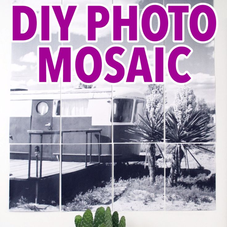 DIY Photo Mosaic                                                                                                                                                                                 More