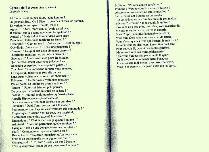 "Edmond Rostand: La tirade du nez dans ""Cyrano de Bergerac"" (1897)"