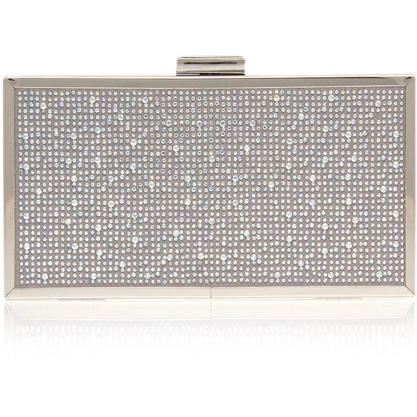 Grint Clutch Carvela Kurt Geiger Silver ($38) ❤ liked on Polyvore featuring bags, handbags, clutches, silver, silver purse, silver clutches, chain purse, carvela kurt geiger and white clutches