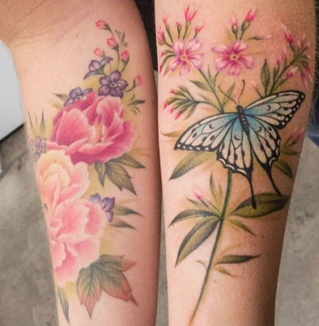 ... | No line tattoos Vintage flower tattoo and Realistic flower tattoo