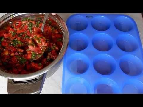 Как заморозить помидоры с зеленью - YouTube