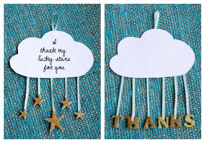 DIY cloud and stars card