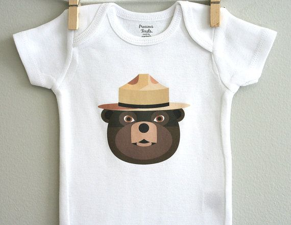 Baby boy clothes smokey the bear baby by squarepaisleydesign