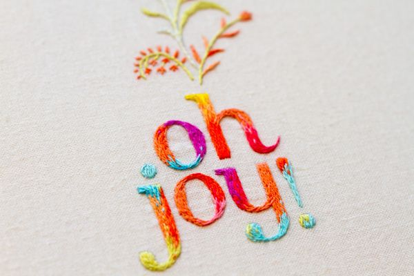 Oh Joy! embroidered logo by MaricorMaricar , via Behance http://www.behance.net/gallery/Oh-Joy-embroidered-logo/7681469#