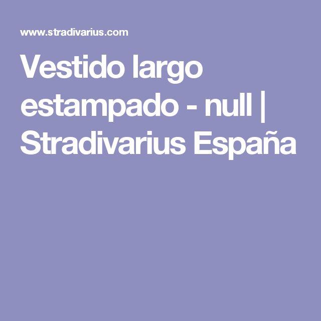Vestido largo estampado - null | Stradivarius España