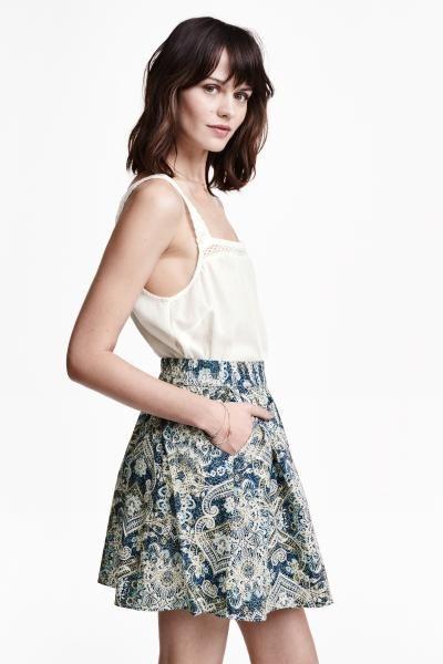 H&M-falda estampada
