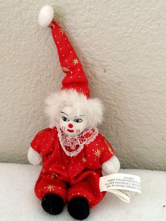 Vintage Miniature Porcelain Clown Doll - 5