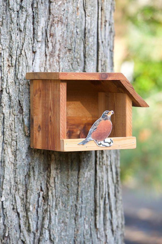 American Robin Cedar Bird House Hanging Bird Feeder Plans Woodworking Birdhouses Bird House Kits Bird House Bird House Plans