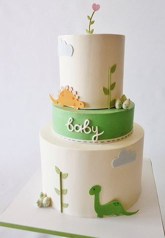Could be great for Dinosaur Party. Baby Shower Cake