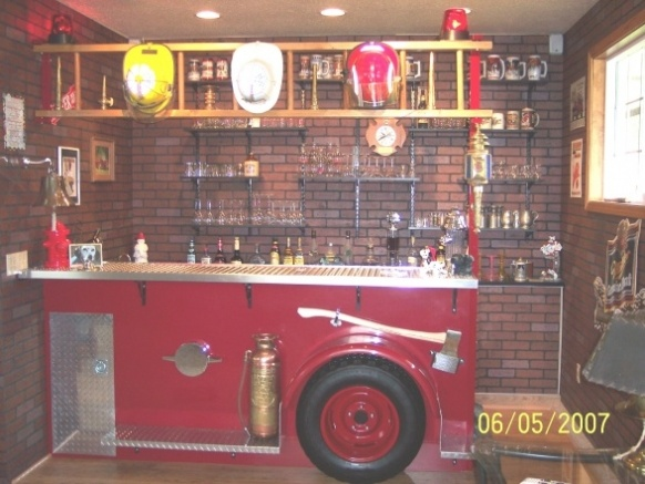 Used Man Cave Bar : Best images about firefighter man cave ideas on