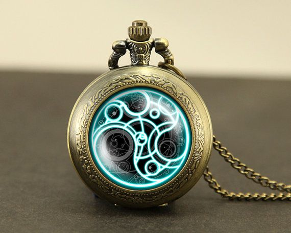 Doctor Who Pocket Watch Necklace Dr Who masters fob by touchtime, $9.99