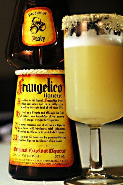The Creme Brulee Cocktail: 1 oz Vanilla Vodka 1 oz Frangelico 1 oz Cointreau (or something similar) 1 oz Egg White (optional)
