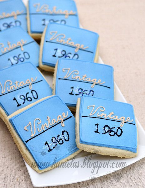 50th Birthday Cookies