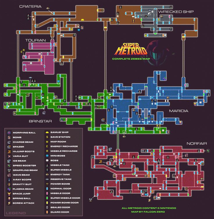 Best Video Game Maps in History   Super Metroid