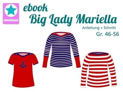 Nähanleitung und Schnittmuster Damen Shirt Big Lady Mariella Gr. 46-56 bei Makerist