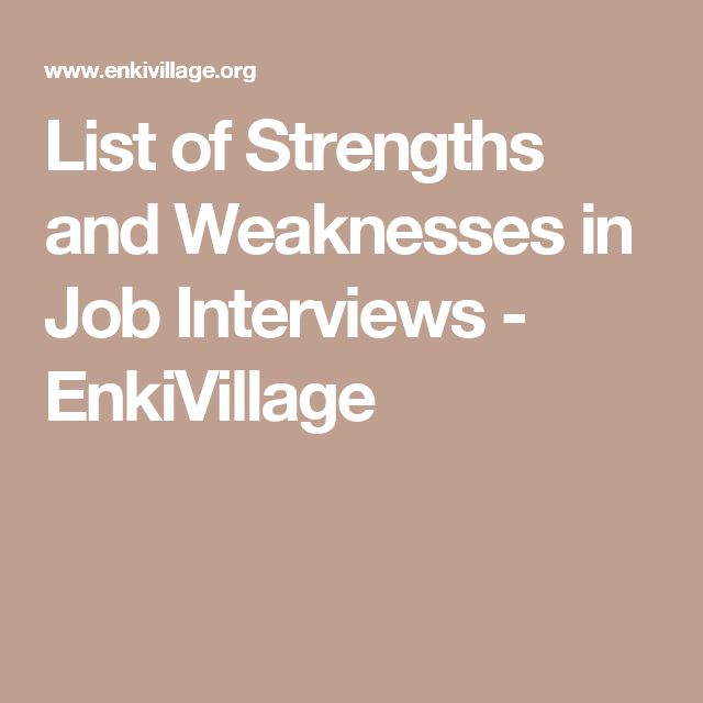 strengths for interviews