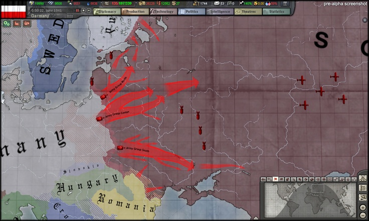 "Hearts of Iron III - ""Their Finest Hour"" upcoming release - WWII strategy simulation, the most complex ever made available publically"