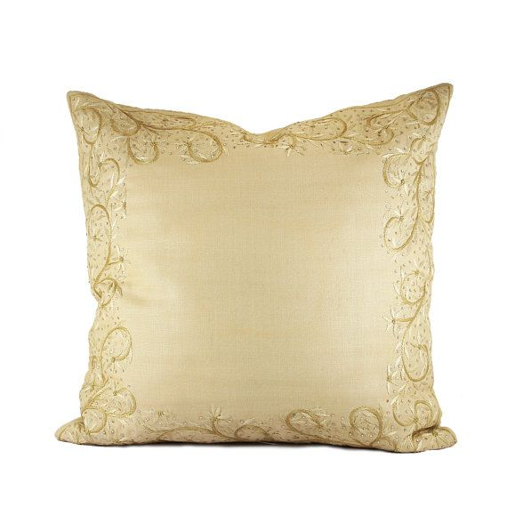 Decorative Pillow 1616 Hand Embroidered by NeedleEyesBoutique