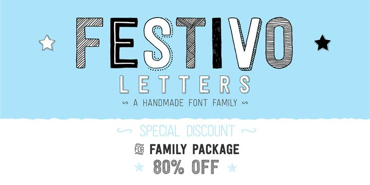 Festivo Letters (80% discount, complete 12,80 €) - http://fontsdiscounts.com/festivo-letters-complete-19-00/